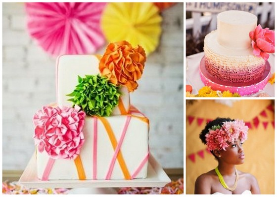 Bright Wedding Cakes Trend