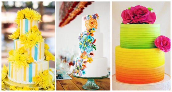 Bright Wedding Cakes Trend1