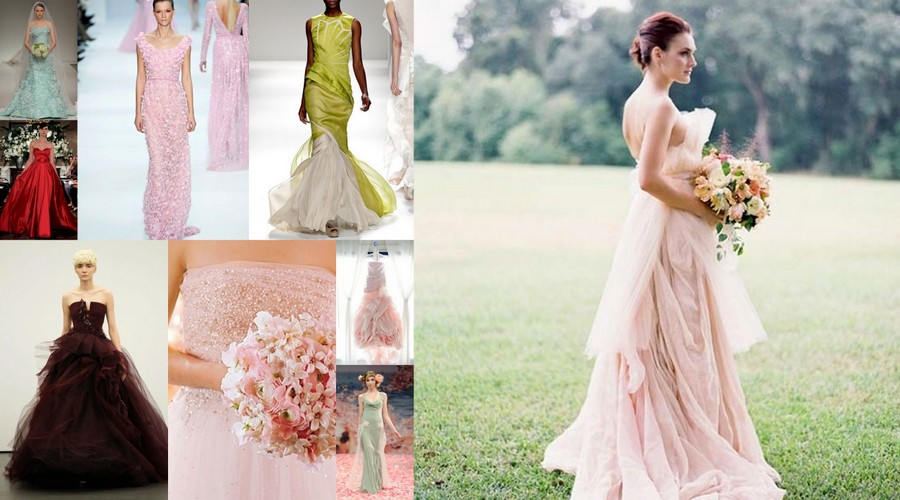 coloured wedding dresses1