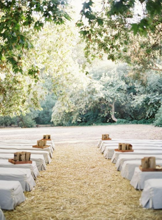 hay bales wedding ceremony idea